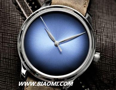 2016日内瓦钟表展 H. MOSER & CIE.推出勇创者大三针电光蓝概念腕表