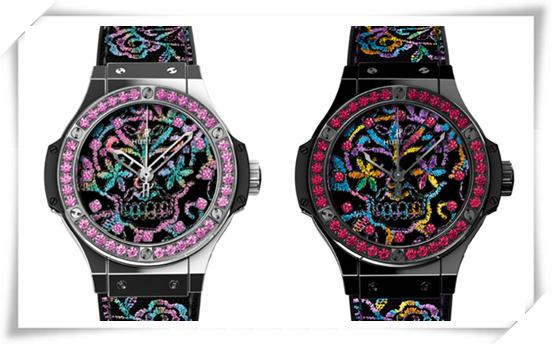 传统的刺绣手法 用于腕表上却是一种全新的时尚