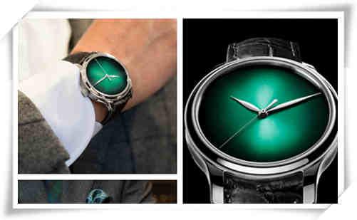 绿色表盘也时尚 毕竟骚气还是无表能敌的