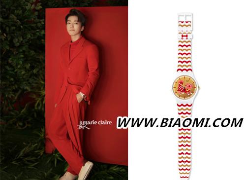 新的一年 炽热的色彩 王俊凯再登时尚封面 演绎swatch腕表 热点动态 第1张