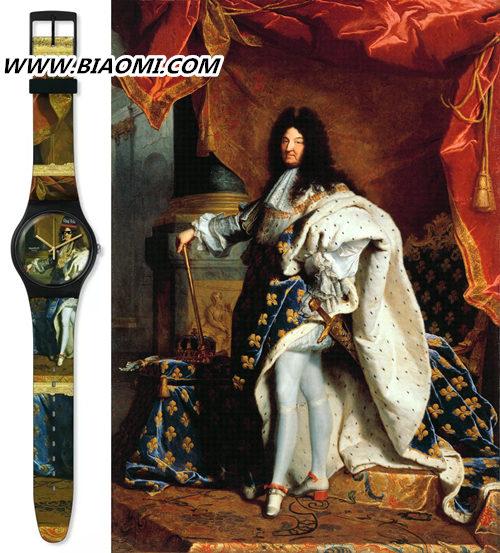 """王俊凯代言的手表品牌为""""太阳王""""路易十四设计了一款表? 路易十四画像 亚森特·里戈 swatch 路易十四 法国 热点动态  第3张"""