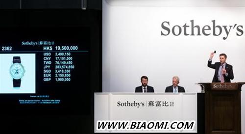 蒂芙尼&百达翡丽Ref.2499腕表 成为亚洲拍卖史上最贵腕表 热点动态 第1张