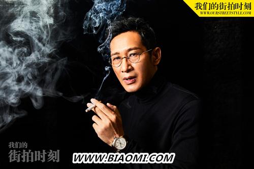 演技派王劲松 佩戴宝齐莱马利龙中央计时码表拍摄时装大片 名表赏析 第1张