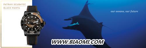 致力守护海洋生态 宝齐莱推出全新柏拉维深潜腕表黑魔鬼鱼特别款 黑魔鬼鱼特别款 深潜腕表 柏拉维 宝齐莱 名表赏析  第1张