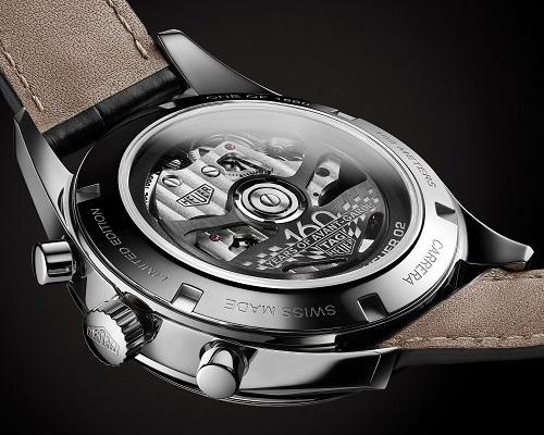 泰格豪雅推出卡莱拉系列Heuer02银色限量腕表