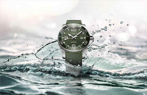浪琴推出全新康卡斯系列腕表  绿色潜水表你觉得如何?