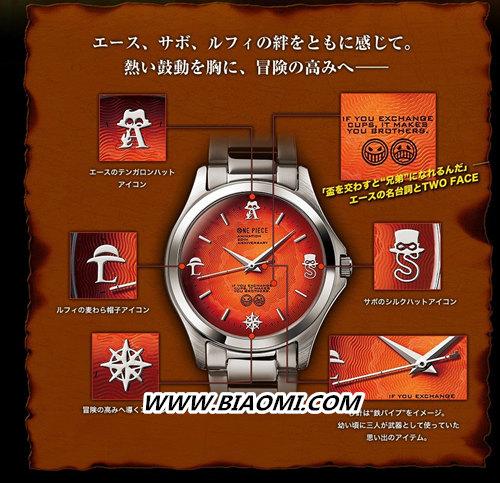 PREMICO推出《海贼王》限量腕表——路飞三兄弟 PREMICO 海贼王 热点动态  第2张