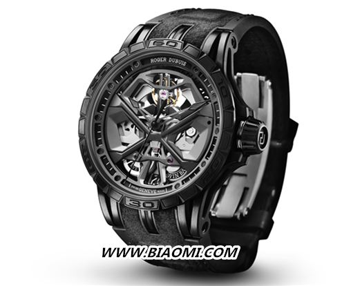 Roger Dubuis罗杰杜彼 全黑Excalibur Huracán腕表时尚出击 Excalibur Huracán 罗杰杜彼 Roger Dubuis 名表赏析  第3张