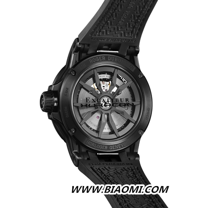Roger Dubuis罗杰杜彼 全黑Excalibur Huracán腕表时尚出击 Excalibur Huracán 罗杰杜彼 Roger Dubuis 名表赏析  第4张