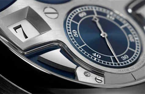 ZEITWERK MINUTE REPEATER时间机械三问腕表 配备深蓝色表盘的18K白色K金款限量版