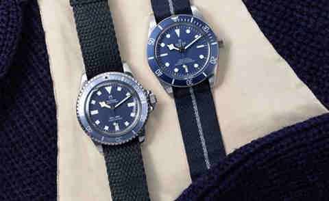 """帝舵碧湾1958型""""海军蓝"""" 今年手表流行蓝色?"""
