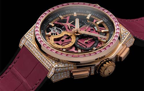 ZENITH真力时推出DEFY 21粉红腕表 致献和关爱女性