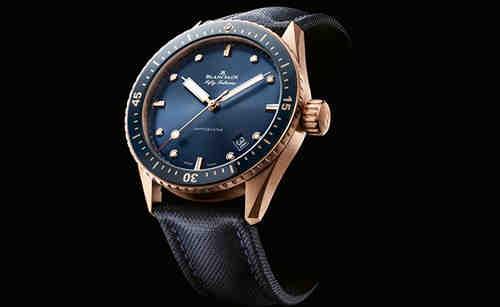 宝珀推出全新五十噚系列蓝色Sedna金深潜器腕表