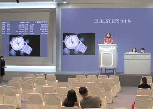 百达翡丽3488自动上弦万年历腕表以783万成交 全场最高拍品