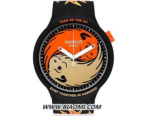 """斯沃琪推出""""牛""""转乾坤中国新年特别款腕表 牛年 Swatch 热点动态  第2张"""