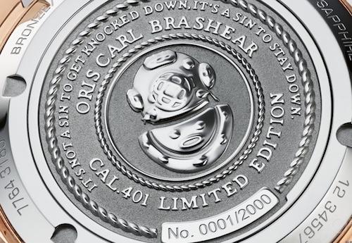豪利时推出全新Carl Brashear Cal.401限量版腕表